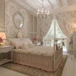 Conception d'une chambre moderne de style provençal