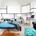 Meuble d'armoire blanc dans le design de la chambre