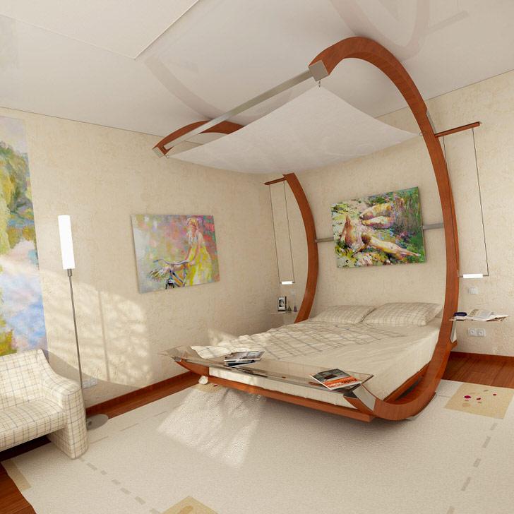 Filles de chambre design avec lit original