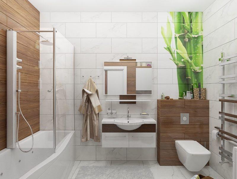 Arbre dans les tendances de design d'intérieur de salle de bain en 2018
