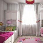 L'intérieur de la chambre des enfants dans des tons gris