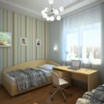 Chambre pour deux enfants d'une superficie de 12 carrés