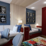Chambre moderne pour deux garçons