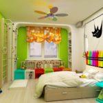 Chambre intérieure lumineuse pour un enfant