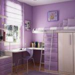 Chambre enfant lilas