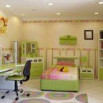meubles avec façades vert clair de MDF