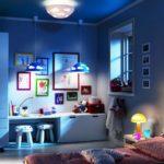 Éclairage de la chambre des enfants la nuit