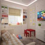 Accents rouges à l'intérieur de la chambre des enfants