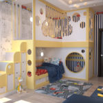 Meubles à deux étages pour une chambre d'enfants