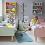 Conception de chambre minimaliste pour deux enfants.