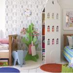 Zonage d'une chambre d'enfant avec mobilier