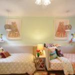 Thextile dans la conception de la chambre des filles