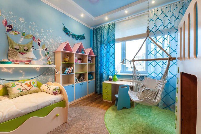 L'intérieur de la pièce fait 12 mètres carrés pour le bébé