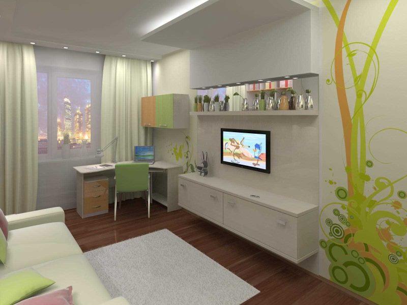 Conception d'une chambre d'enfant moderne d'une petite surface
