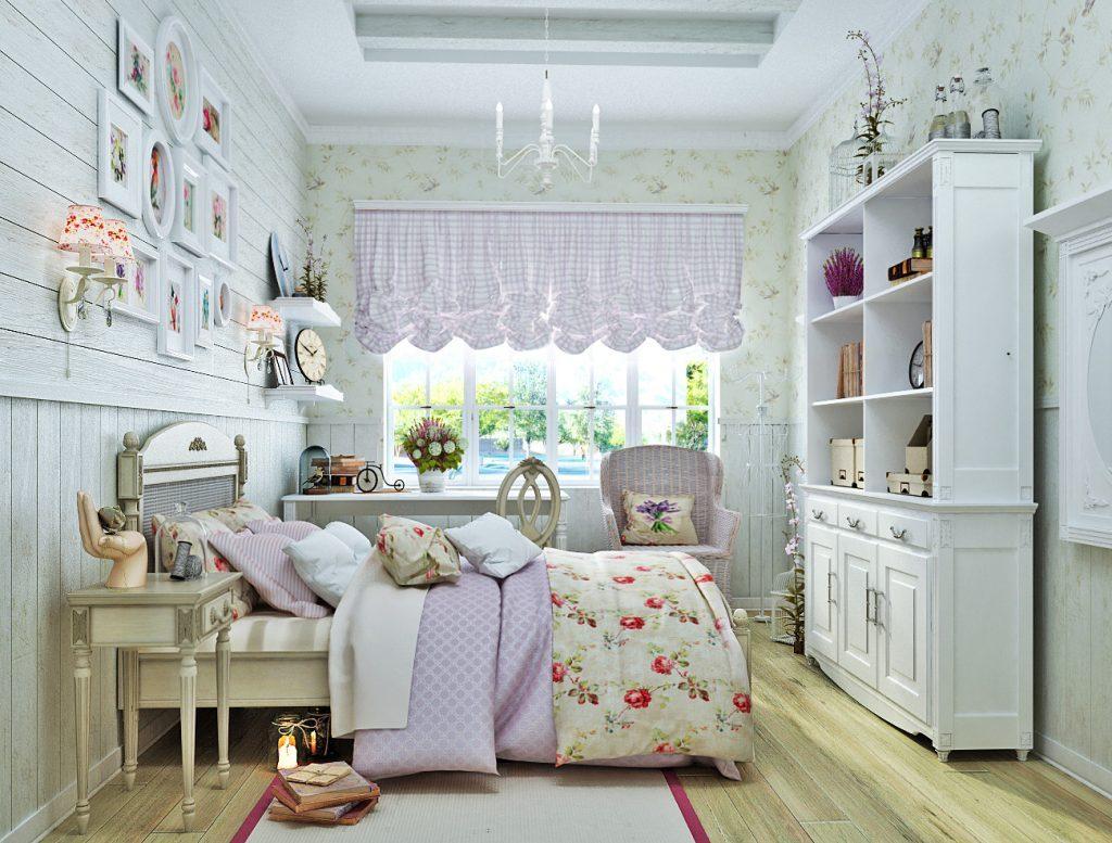 Intérieur de chambre d'enfant de style provençal