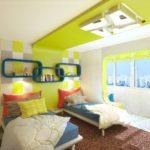 Conception d'une chambre d'enfants avec balcon