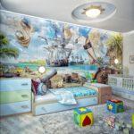 Décoration de chambre de bébé de style pirate