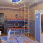 Chambre d'enfant dans les tons bleus
