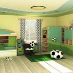 Conception de la salle pour un jeune joueur de football
