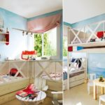 Meubles en bois dans une chambre d'enfant