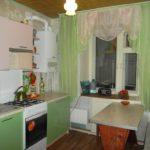 Culoare verde deschis în designul bucătăriei