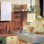 Proiectarea bucătăriei unei case private cu o coloană de gaz deschisă