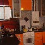 Culoarea morcovului în interiorul bucătăriei