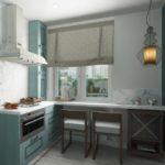 Masă de bucătărie rustică combinată