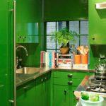 Bucătărie verde mică
