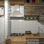 Uși de dulapuri de bucătărie din scânduri din lemn