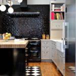 Culoare neagră în designul spațiului de bucătărie