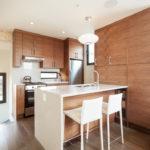Mobilier de dulap modern în designul bucătăriei