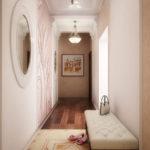 Intérieur d'un couloir allongé dans un style classique