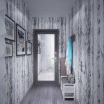 Conception du couloir dans les tons gris