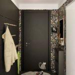 Couloir moderne aux couleurs sombres