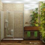 Utilisation de plantes vivantes dans la conception de salles de bains
