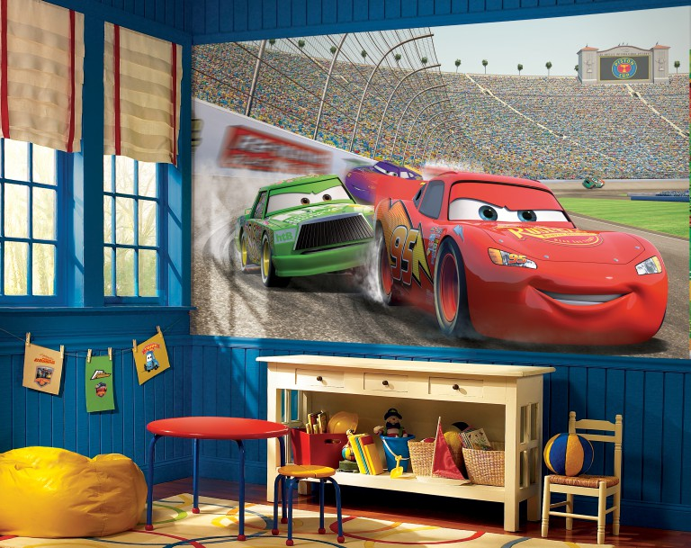 Aire de jeux dans la chambre des enfants de deux garçons