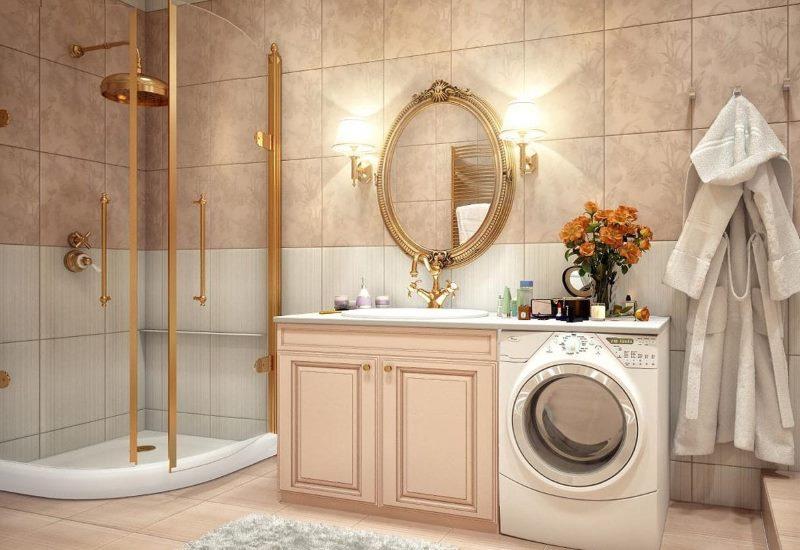 Intérieur d'une salle de bain à la mode dans un style classique