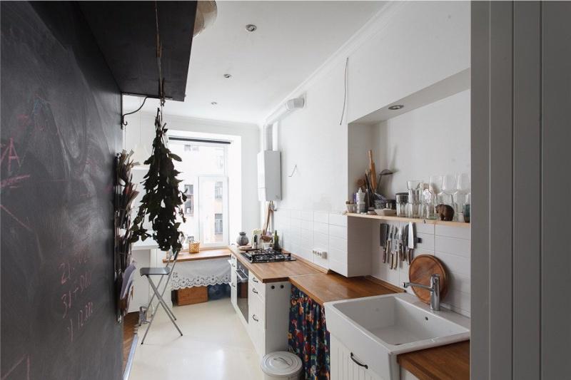 Design de bucătărie în stil scandinav luminos