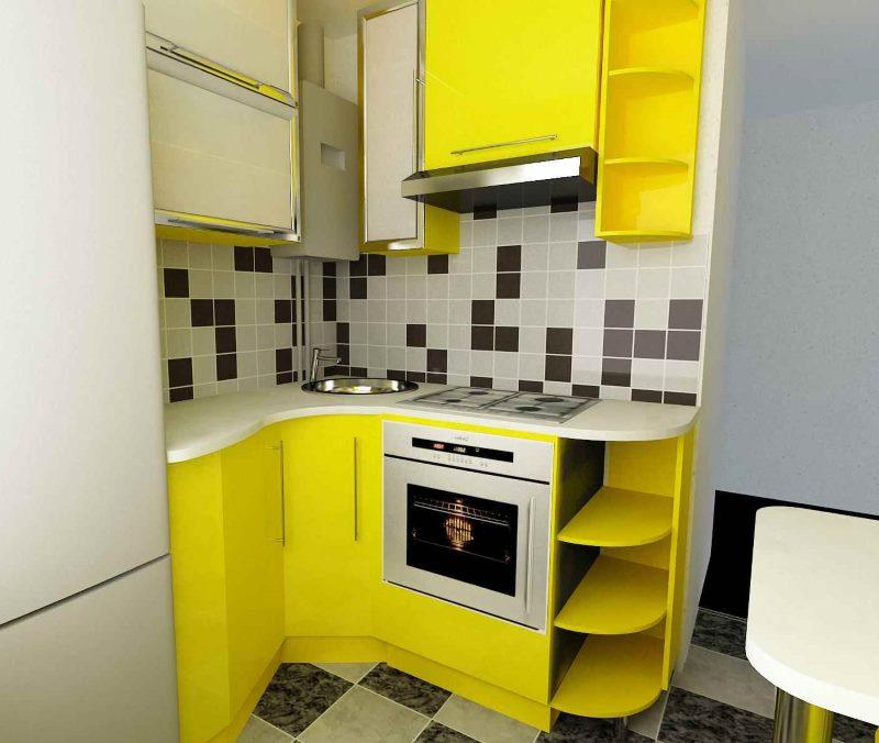 Bucătărie galbenă în bucătăria lui Hrușciov