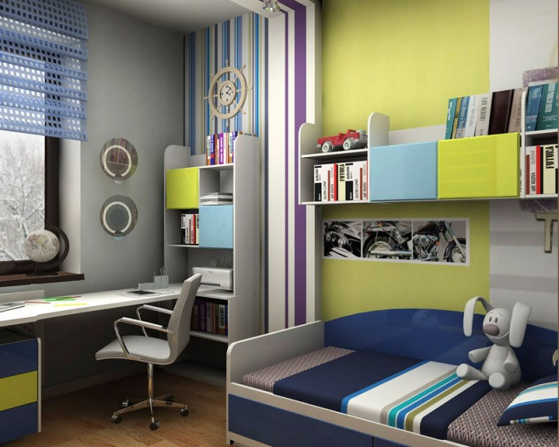 Intérieur confortable d'une petite chambre d'enfants