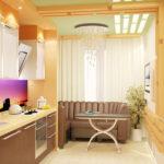 Bucătărie cu continuare refăcută de la balcon