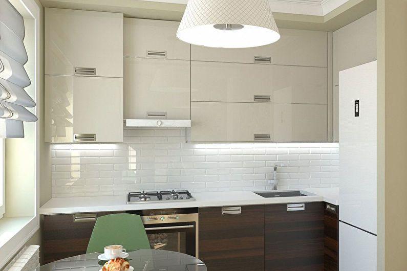 Zona de lucru a bucătăriei luminată cu șorț din ceramică