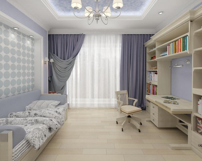 Conception d'une chambre d'enfant aux couleurs pastel.