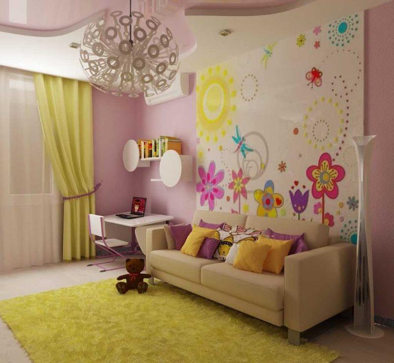 Décoration murale dans un espace enfant de 12 places