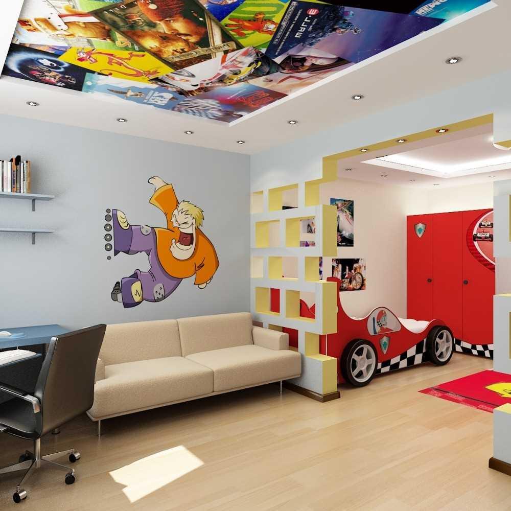 Plafond à deux niveaux dans la chambre des enfants