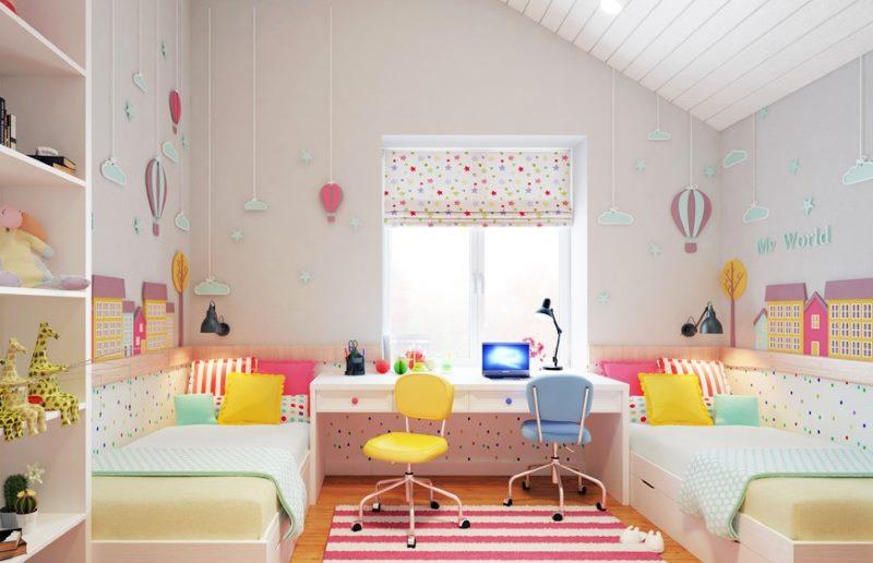 Chambre enfant rose