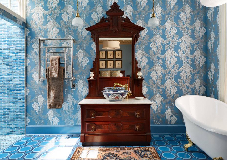 L'intérieur actuel d'une salle de bain à la mode pour 2018