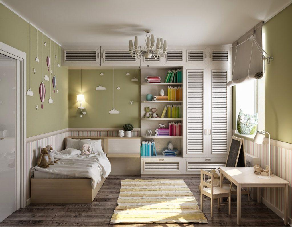 Conception d'une chambre d'enfant de 12 m² avec un bureau