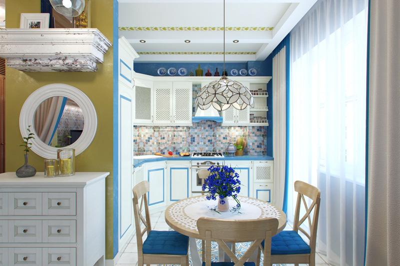 Proiectarea spațiului de bucătărie în stil mediteranean